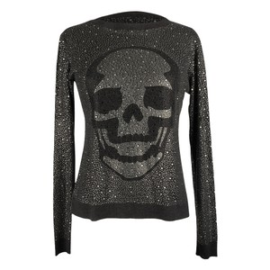 Philipp Plein Skull Diamante Skull Diamante Sweater