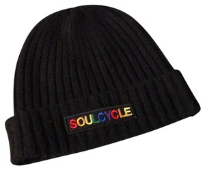 SoulCycle Cashmere Rainbow Patch Beanie