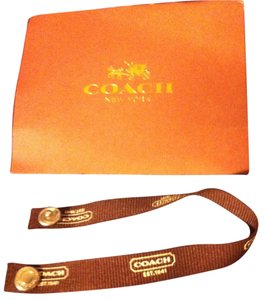 Coach Brown Fabric Snap/Jewelry Card Holder Included-Size-Sm/Med-Retail $58