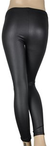 Dainty Hooligan Shimmer Faux Leather Leggings Skinny Pants Black