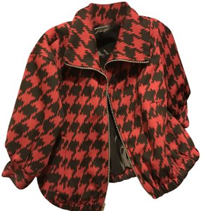 Express Short Like / Houndstooth. Red and black Jacket