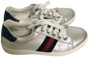 Gucci Boy Girl Kid Musthave Sneakers silver Athletic