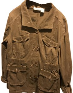 DKNY Mid Length / Brown Color Like New. Military Jacket