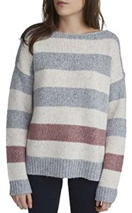 White + Warren Stripes Bateau Sweater