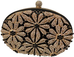 Crystal Collection Evening Evening Black and rhinestone Clutch