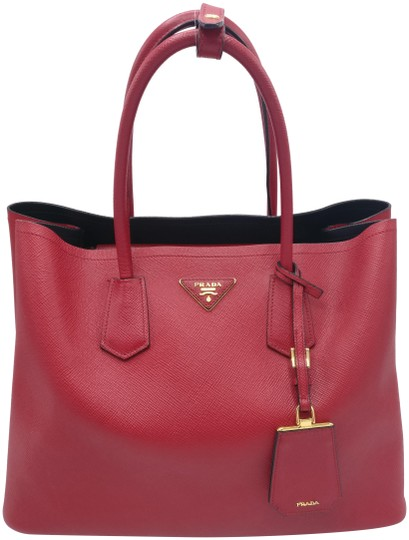 Bn2761 Cuir Saffiano Red Leather Tote
