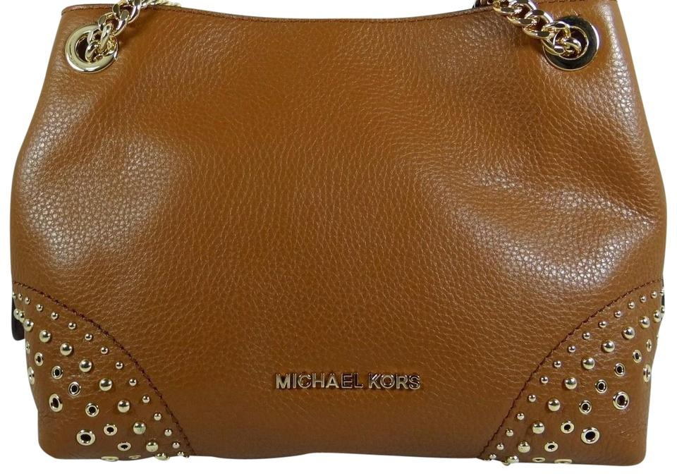 ce1f8de187 Michael Kors Jet Set Chain Medium Messenger Luggage Leather Shoulder ...