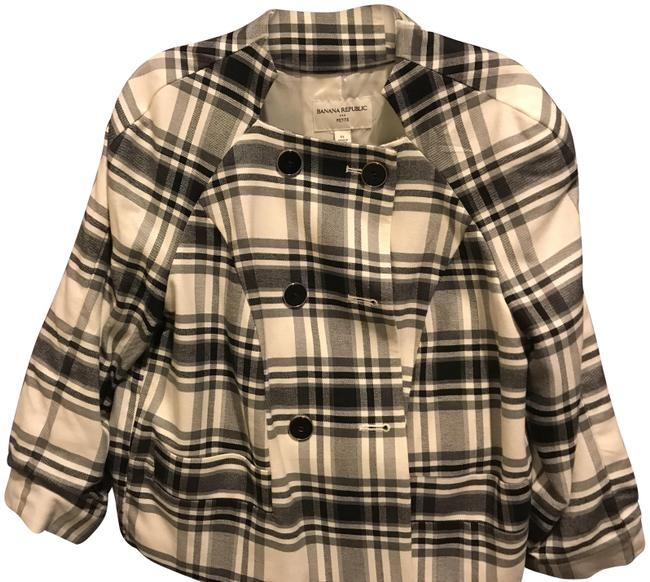 Item - Black and White Plaid Jacket Like New. & Double Breasted Blazer Size Petite 12 (L)