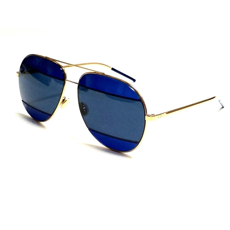 0581d644281bf Dior Blue Rose Gold Aviator Split 2 000 Ku Sunglasses - Tradesy