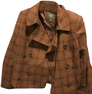 The Limited & Bomber Blazer Stule Like New Brown and black plaid Jacket