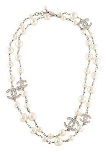 3411f759cb1d4c Chanel Classic Pearls and 5 Crystals CC Logo Long