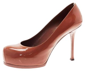 Saint Laurent Patent Brown Pumps