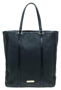 Burberry Leather Perforated Tote in Black