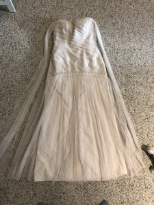 d3a59e5e535b Vera Wang Bridal Champagne White Womens Gown Formal Bridesmaid/Mob Dress  Size 2 (XS