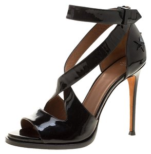 Givenchy Patent Leather Studded Black Sandals