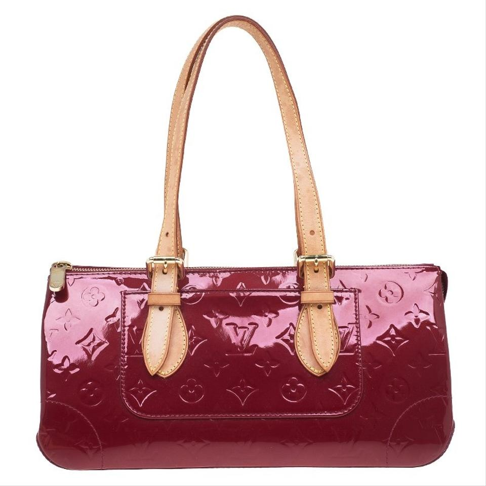6dca2abeaf65 Louis Vuitton Patent Leather Monogram Canvas Satchel in Red Image 11.  123456789101112