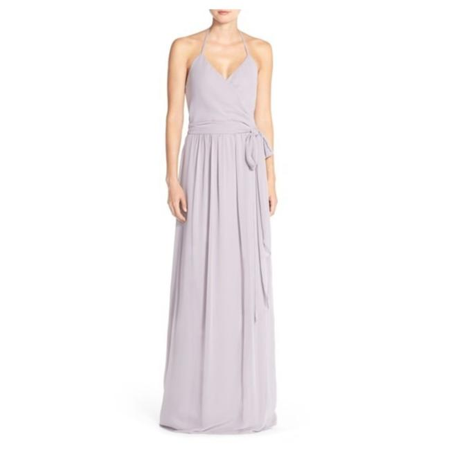 Item - Silver Bell Dc Halter Ruffles Wrap Bridesmaid Gown Long Formal Dress Size 12 (L)