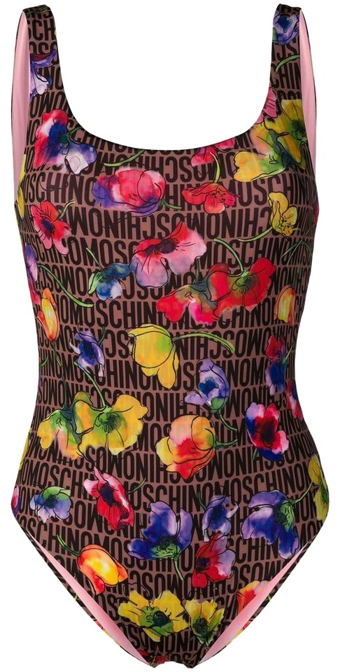48e9ac4d0c Moschino Multicolor Pink Floral Print Swimsuit 1 One-piece Bathing Suit