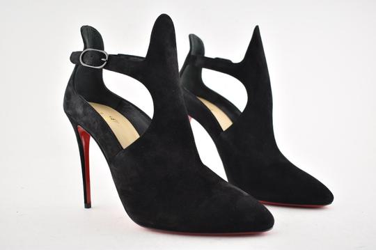 4732b302f7 Christian Louboutin Floral Stiletto Ankle Canadada black Boots Image 3