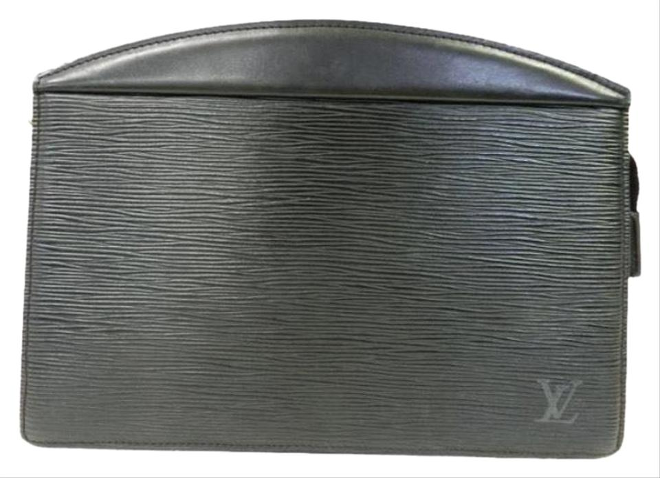 b67fce59825d Louis Vuitton Black Leather Clutch - Tradesy