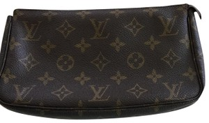 Louis Vuitton Wristlet in Monogram Brown and Tan