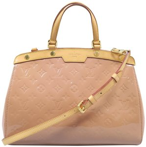 Louis Vuitton Lv Brea Mm Vernis Satchel in LightSalmon