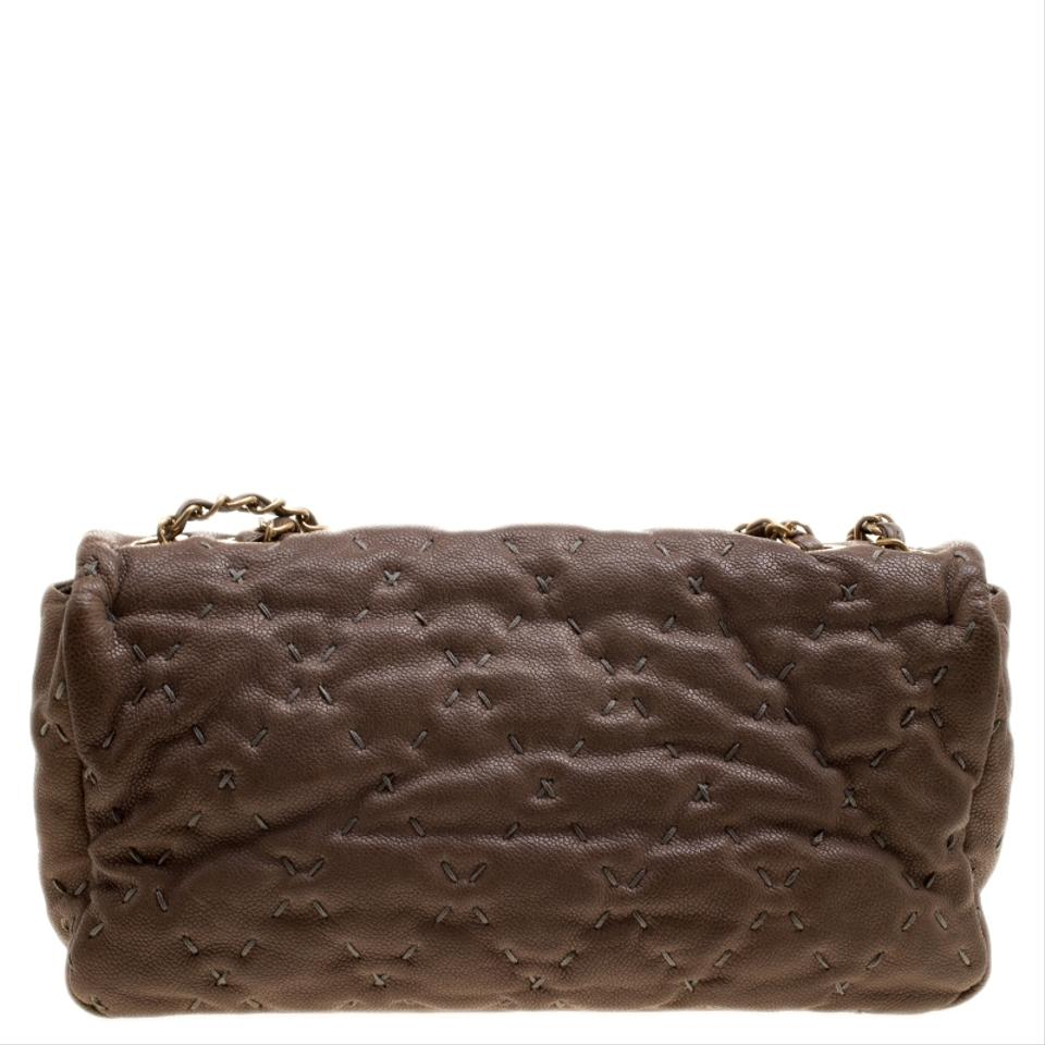 50f2aefe6f1e Chanel Classic Flap Quilted Wild Stitch Caviar Taupe Leather Shoulder Bag -  Tradesy