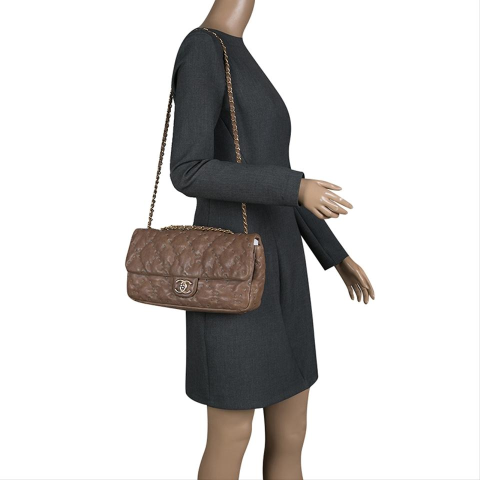 17e4b929bd5a Chanel Classic Flap Quilted Wild Stitch Caviar Taupe Leather Shoulder Bag -  Tradesy