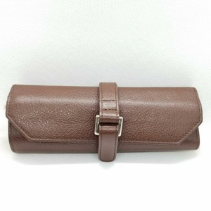 Tiffany & Co. Retired brown leather jewerly roll case