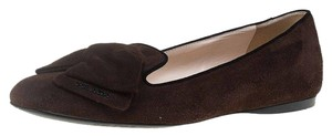 Prada Suede Leather Brown Flats