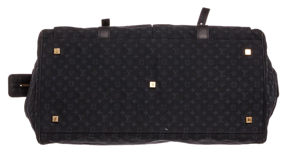 Louis Vuitton Louise Mini Navy Blue Canvas and Leather Weekend Travel Bag -  Tradesy b3e1588142