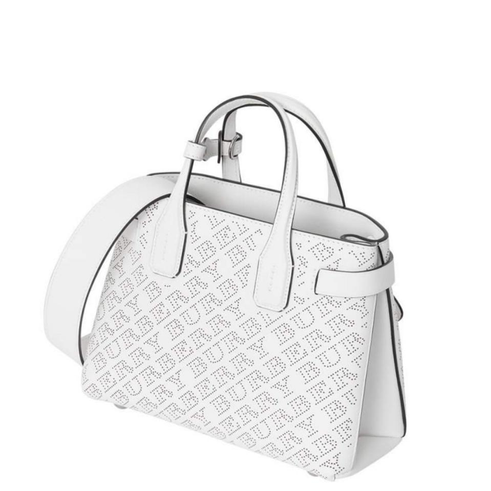 c3954b825903 Burberry Sale⚡️new Banner White Leather Tote - Tradesy