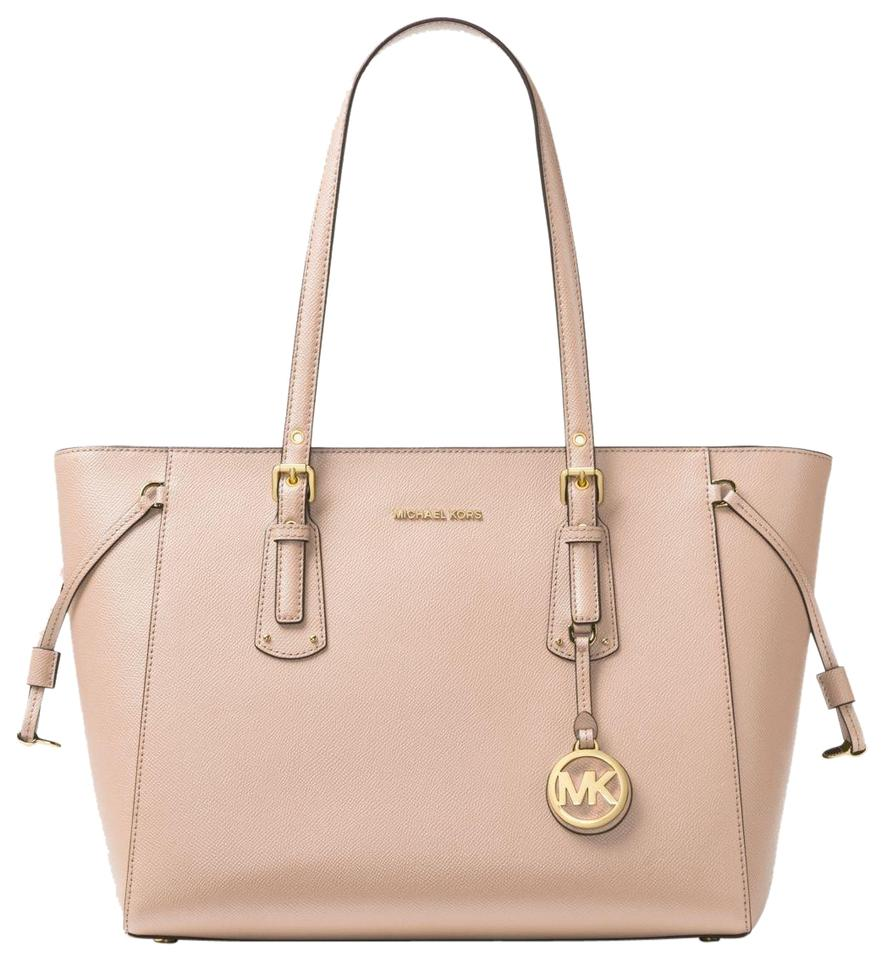 6b54a74a19023f Michael Kors Voyager Medium 30h7gv6t8l Soft Pink Leather Tote - Tradesy