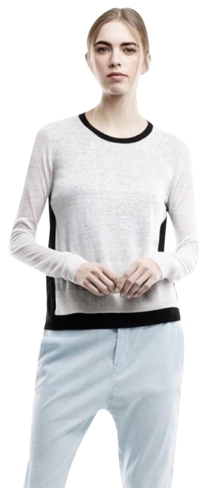 34688f6b71 Theory Mayolee Sag Harbor Black/White Sweater - Tradesy