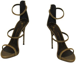 dd69678ed4c Giuseppe Zanotti Gold Black Metallic Lizard Sandals