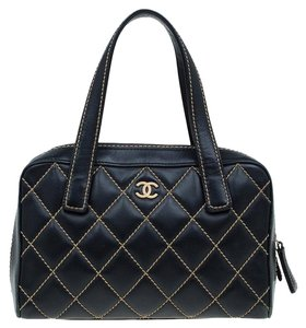 Chanel Leather Quilted Satchel in Black
