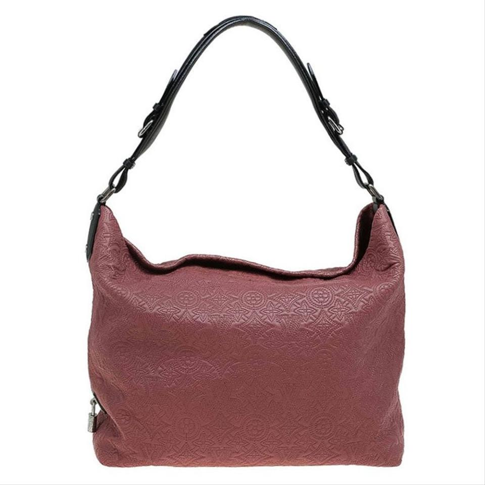 f56974c2f3f4 Louis Vuitton Antheia Framboise Monogram Pm Red Leather Hobo Bag ...