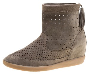Isabel Marant Suede Leather Green Boots