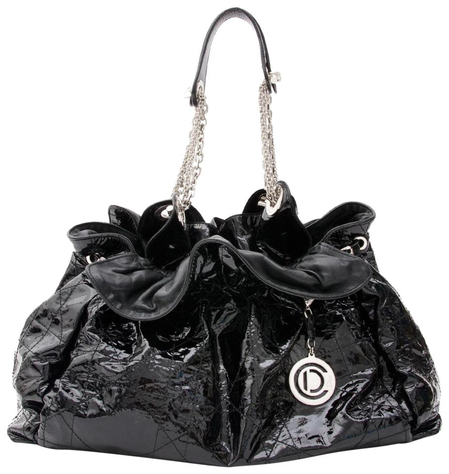 8843f67baad6 Dior Cannage Quilted Le Trente Chain Hobo 10cdz0116 Black Patent ...