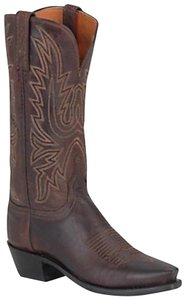 Lucchese black and brown leather Boots
