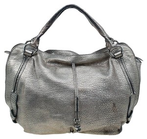 Céline Metallic Leather Hobo Bag