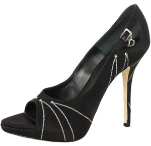 Dior Satin Embroidered Black Pumps