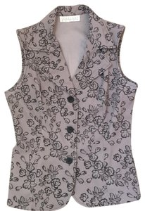 Charlotte Russe Sleeveless Vest Top grey and black