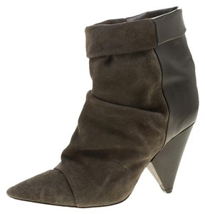 Isabel Marant Suede Leather Pointed Toe Green Boots