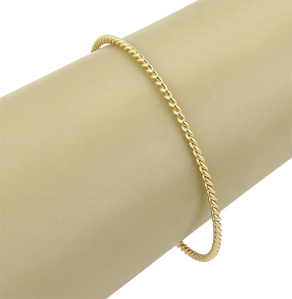 95a0719e0 Tiffany & Co. 18k Yellow Gold Twisted Wire Design Bangle Bracelet Image 0  ...