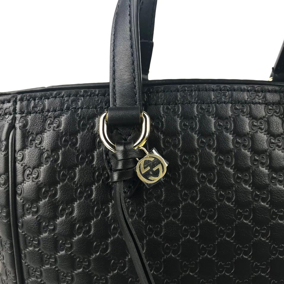 f3209440f7f7 Gucci Bree 449241 Gg Microguccissima Small Handbag Black Leather ...