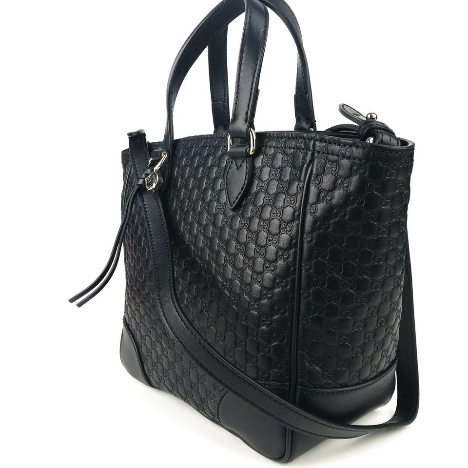 94e3b3e787c1 Gucci Bree 449241 Gg Microguccissima Small Handbag Black Leather Cross Body  Bag - Tradesy