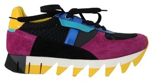 Dolce&Gabbana D4249-3 Women's Leather Sneakers Multicolor Athletic