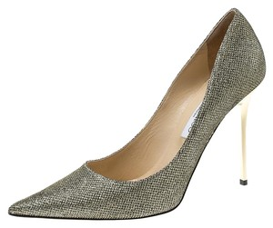 Jimmy Choo Pointed Toe Metallic Pumps