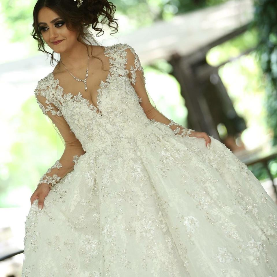 58d2021152d Stephen Yearick Ivory Couture Gown Formal Wedding Dress Size 4 (S ...